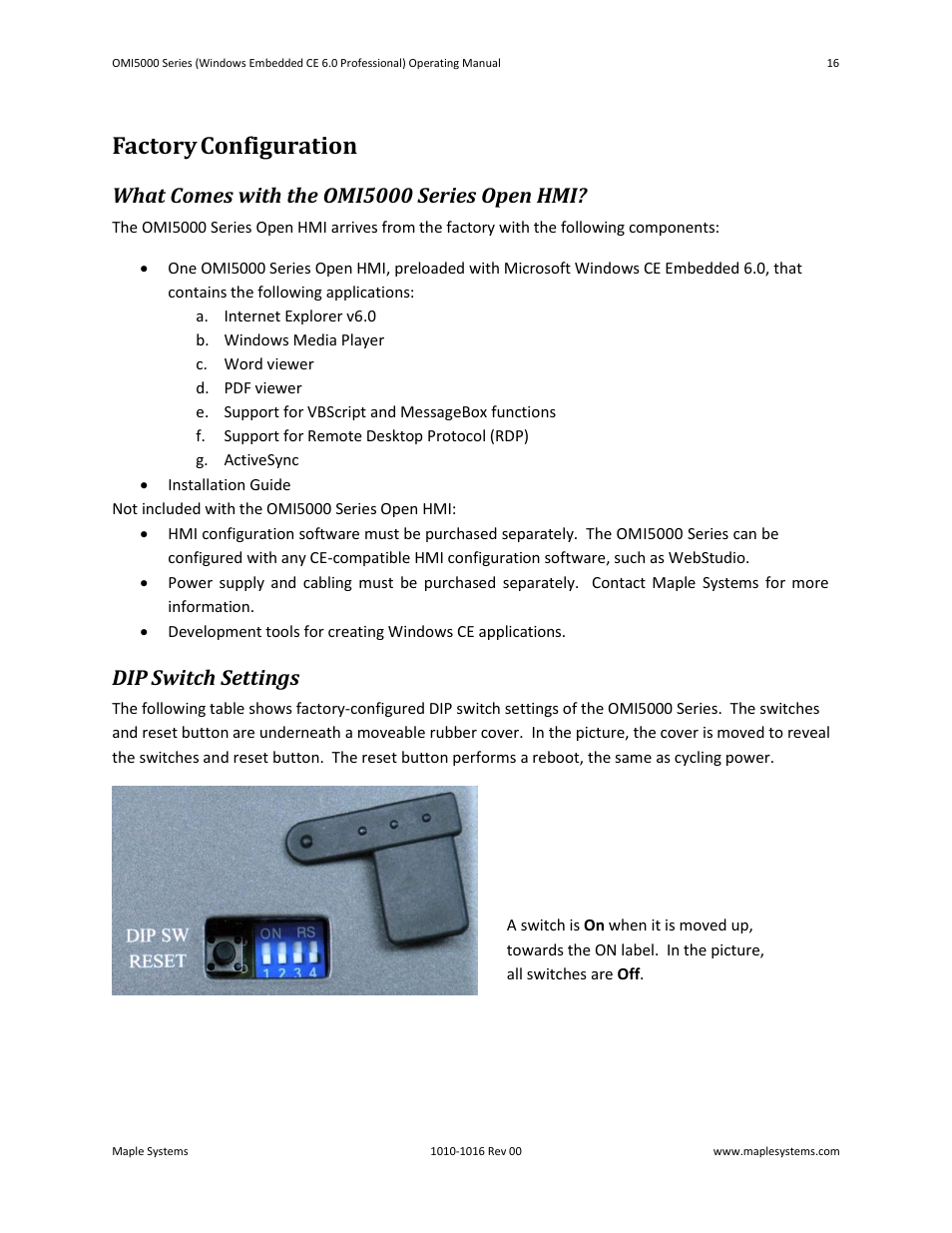 factory configuration what comes with the omi5000 series open hmi rh manualsdir com User Manual Template User Manual PDF
