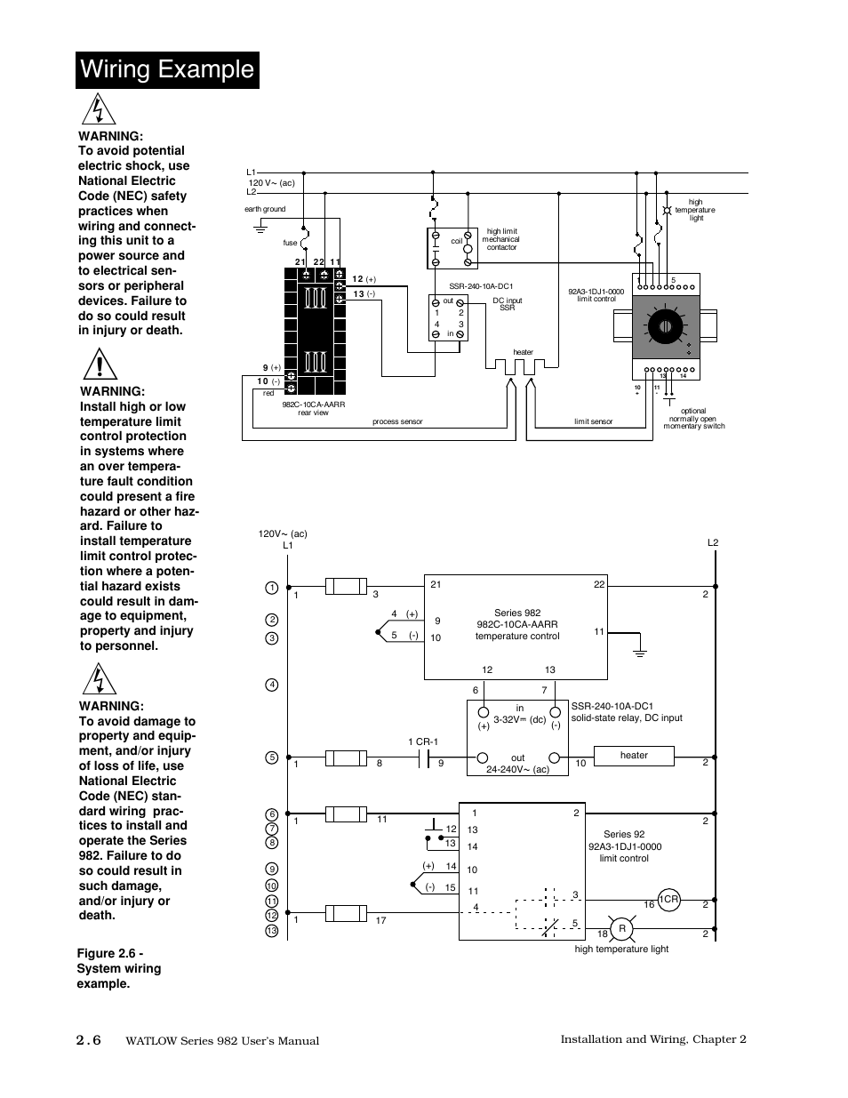 Wiring Example  6 Wiring Example  Figure 2 6