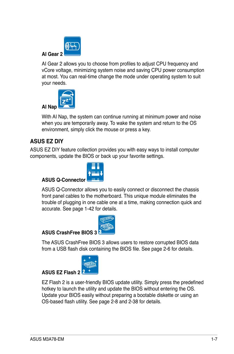 Asus M3A78-EM User Manual | Page 19 / 108