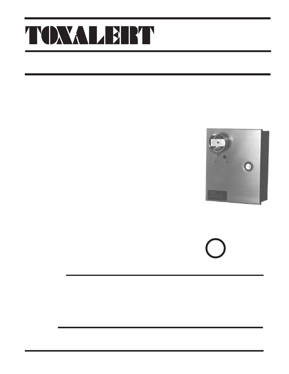 Toxalert Gvu 1d User Manual 4 Pages Also For 1c 1b 4541 Datasheet 1a 1