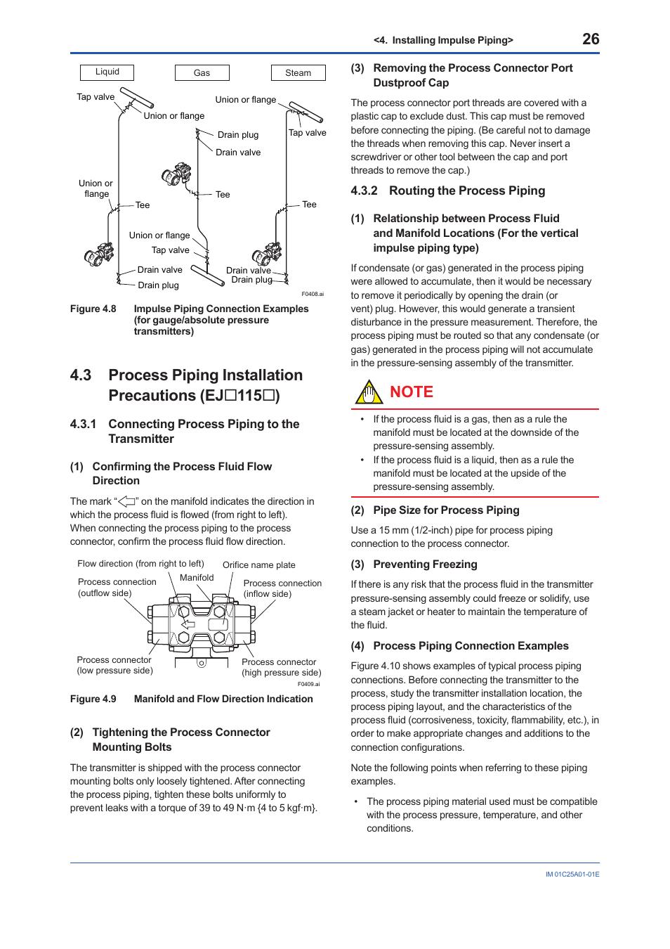 Yokogawa Ejx115a User Manual Page 28 52 Original Mode Also Piping Layout