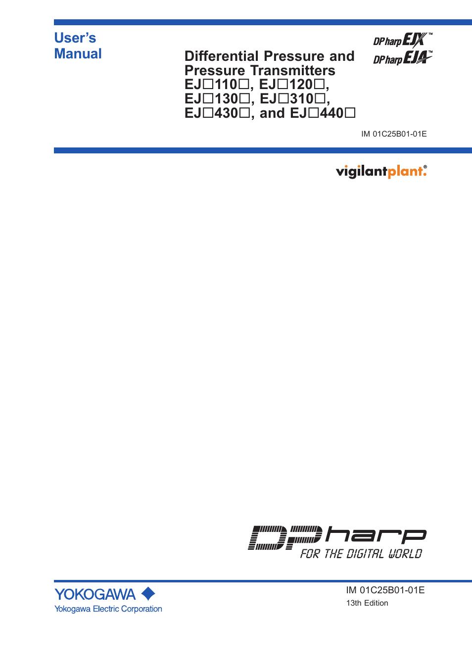 yokogawa eja110e user manual 85 pages