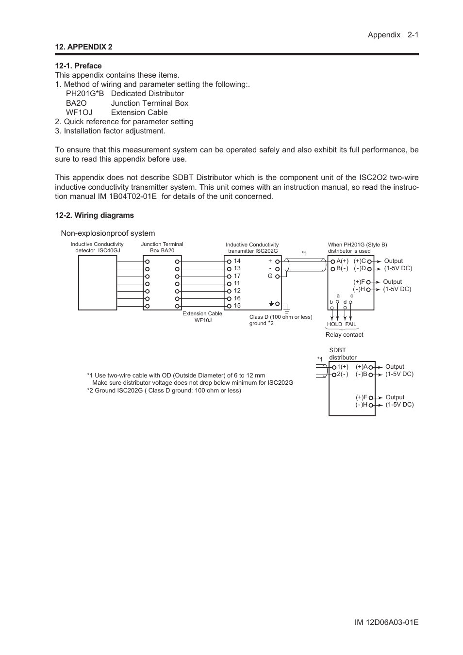 Appendix 2 1 Preface Wiring Diagrams Yokogawa Exa Isc202 Wire Distributor Diagram Conductivity Transmitter Analyzer User Manual Page 73 119