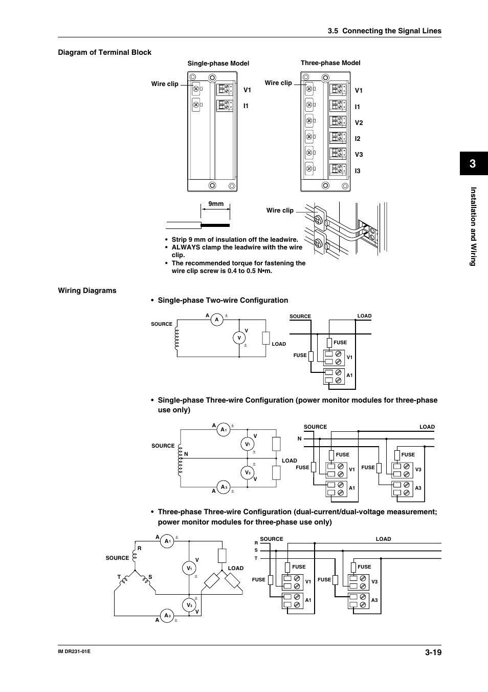 Installation And Wiring  Diagram Of Terminal Block  5