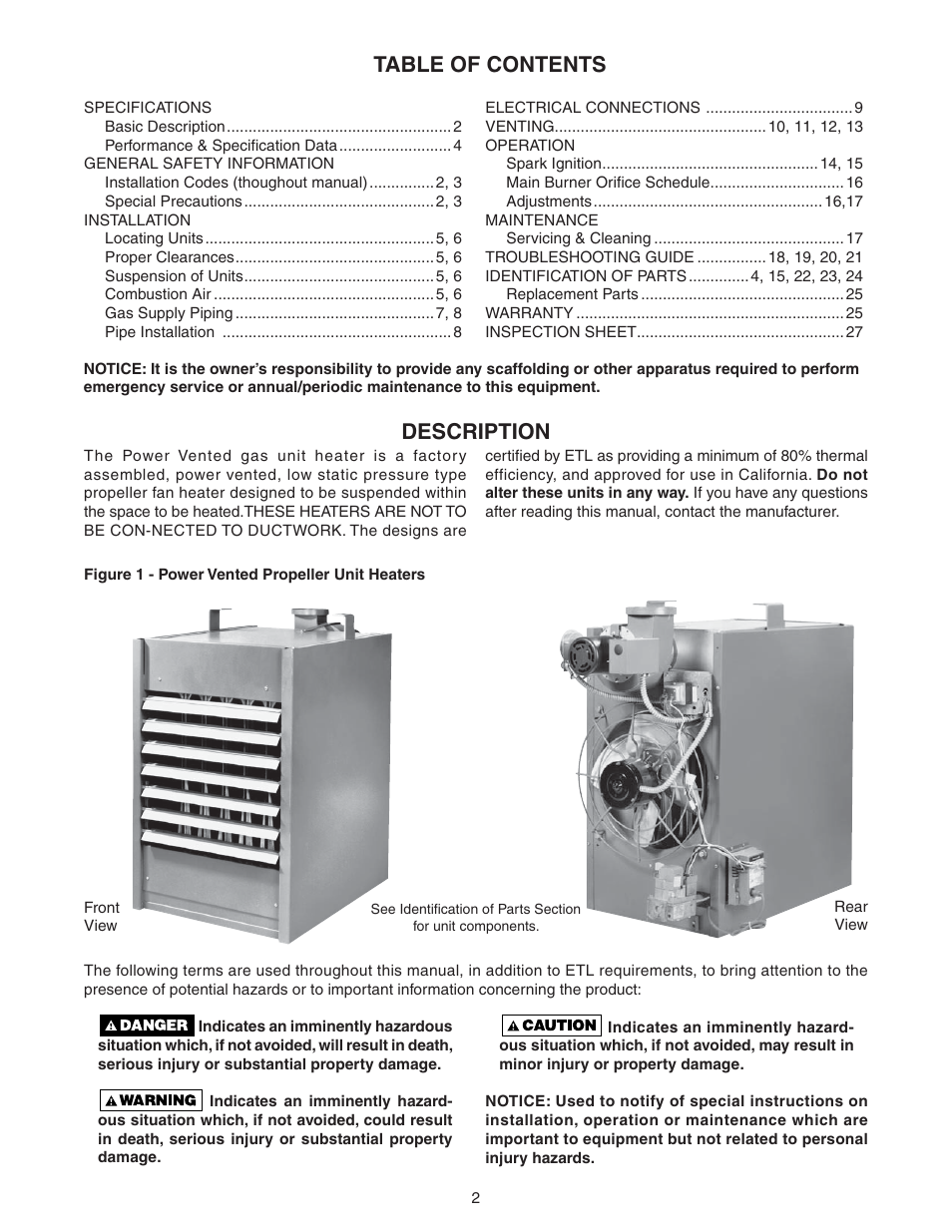 Sterling QVEF User Manual | Page 2 / 28