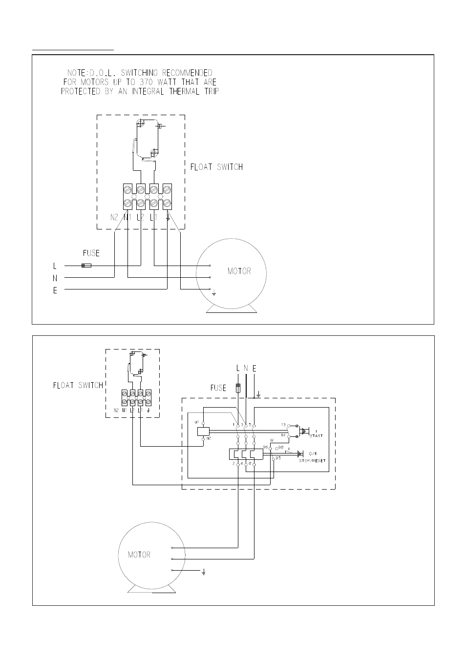 Wiring Diagrams Stuart Turner Float Switch User Manual Page 11 16 Single Pole Diagram To Motor