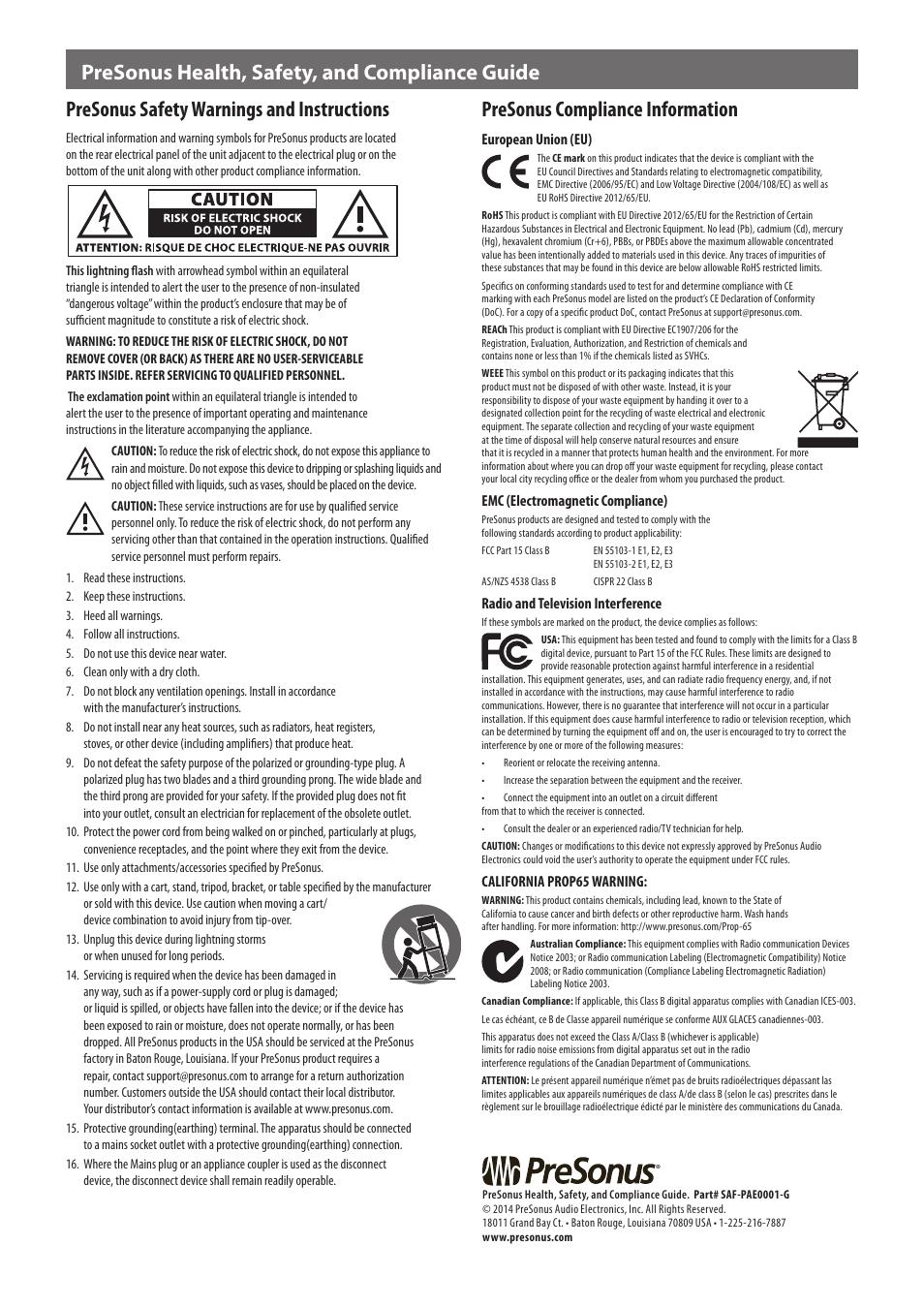 presonus hp4 manual