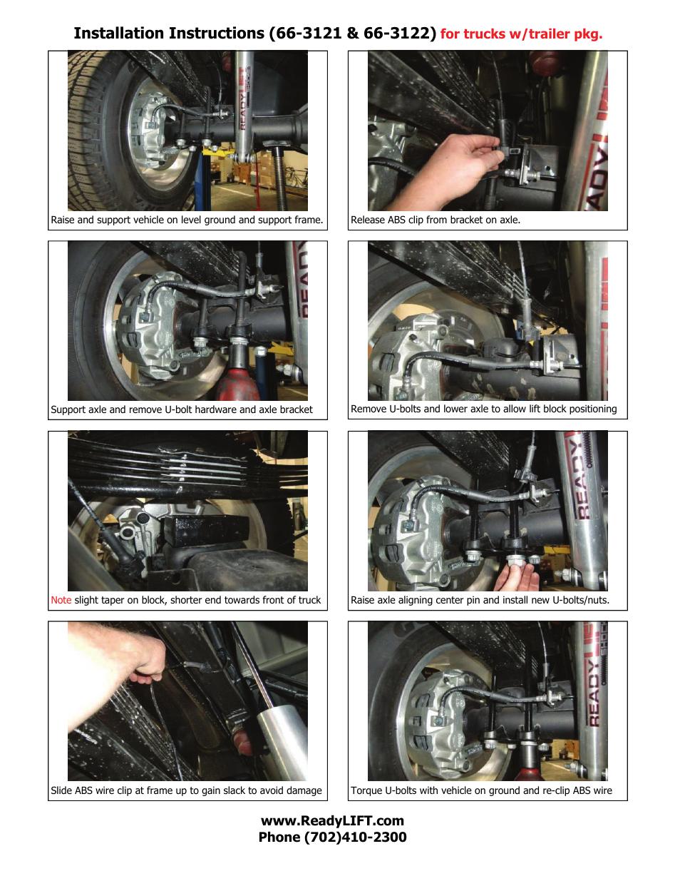 ReadyLIFT GMC Sierra 3500HD, 2011-UP, 2WD & 4WD 8-lug Single