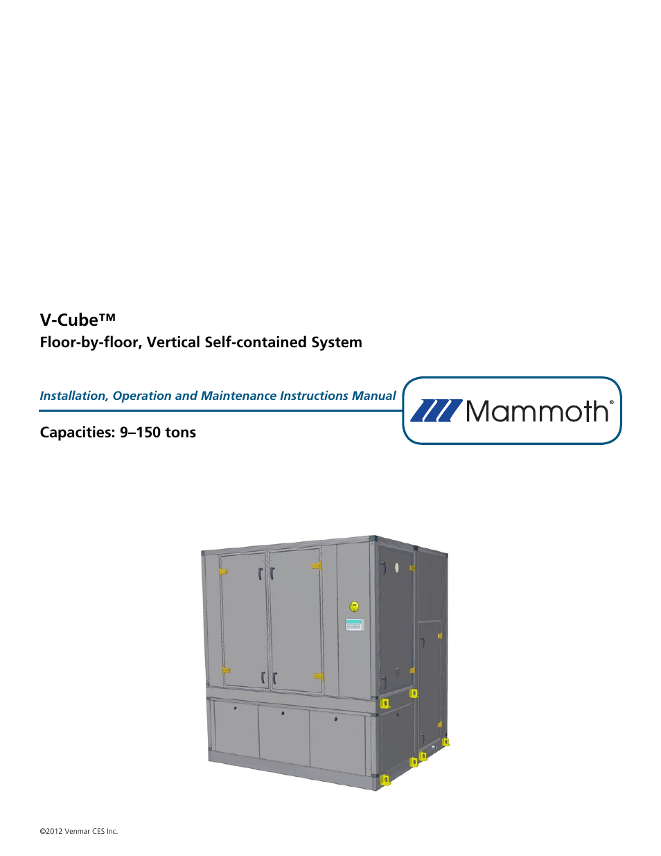 Mammoth V-Cube User Manual | 52 pages