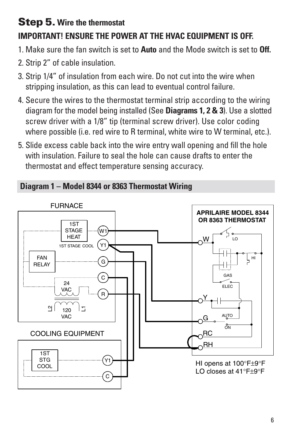 Step 5   Aprilaire 8344 User Manual   Page 7  16