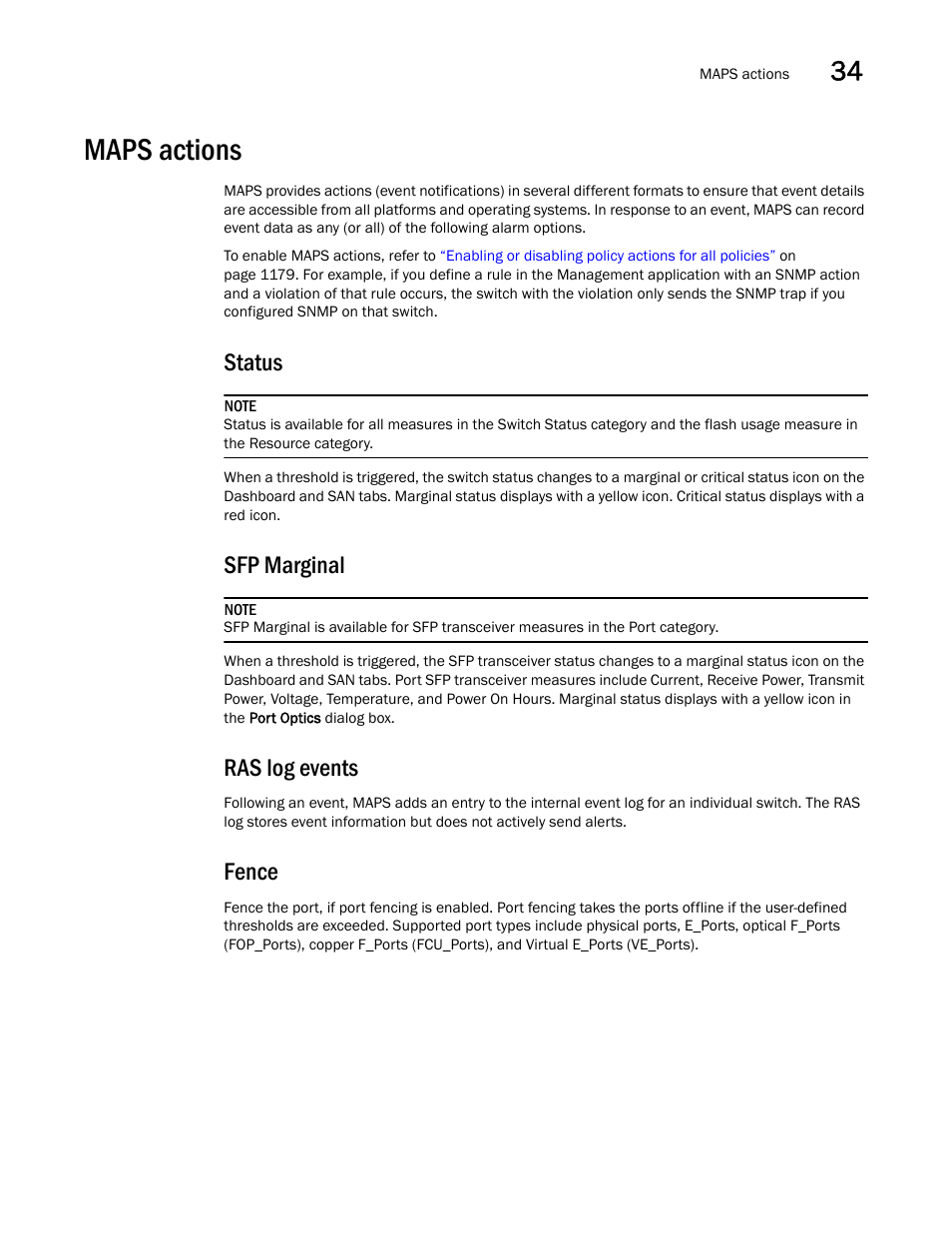 Maps actions, Fence, Maps actions 7 | Brocade Network Advisor SAN User  Manual v12.1.0 User Manual | Page 1224 / 1690