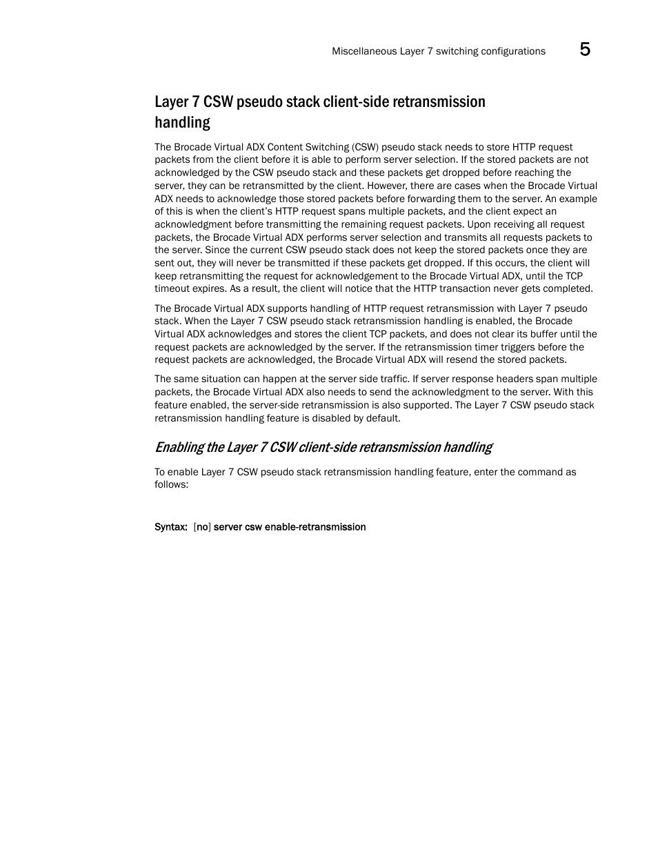 Brocade Virtual ADX Server Load Balancing Guide (Supporting ADX v03