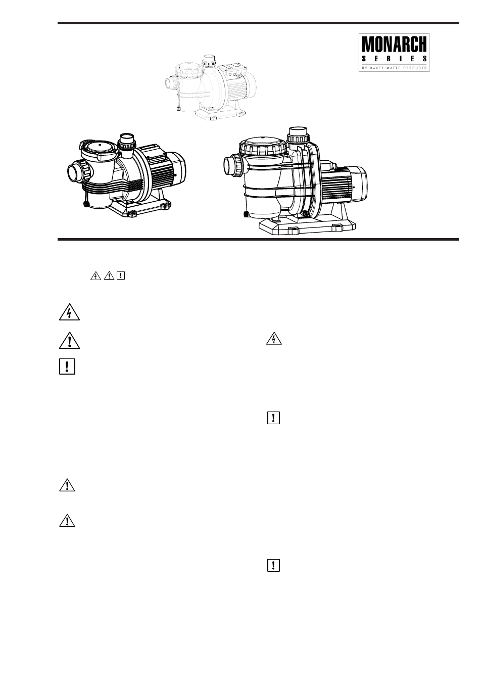 Davey TYPHOON T-Series Swimming Pool Pumps User Manual | 4 pages | Also  for: TYPHOON C-Series Swimming Pool Pumps, WHISPER Series Swimming Pool  Pumps