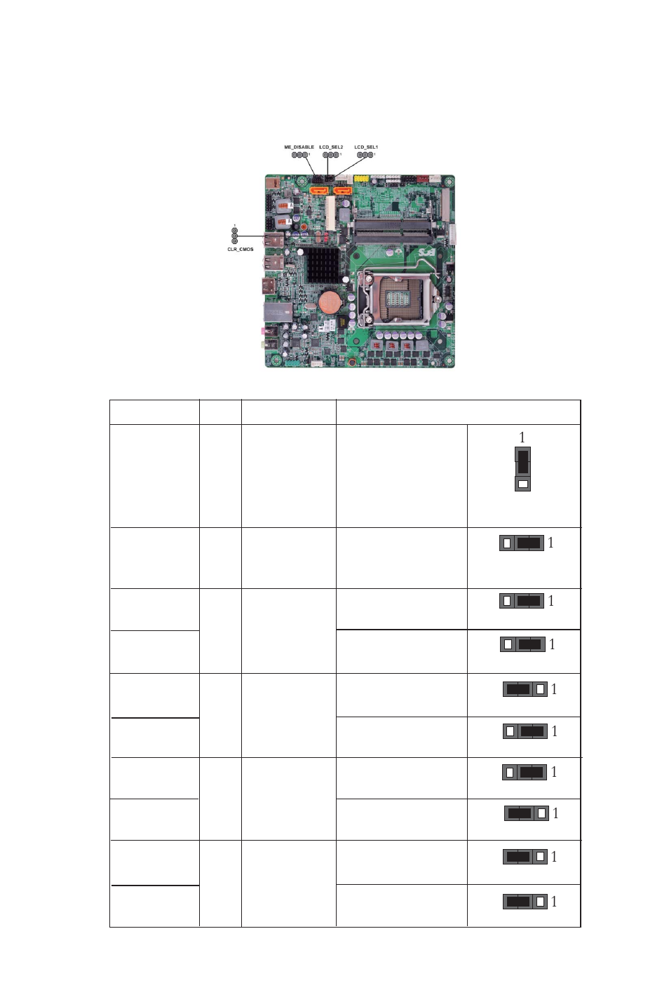 Installing The Motherboard Checking Jumper Settings Labeled Diagram Elitegroup H61h G11 V20 User Manual Page 13 54