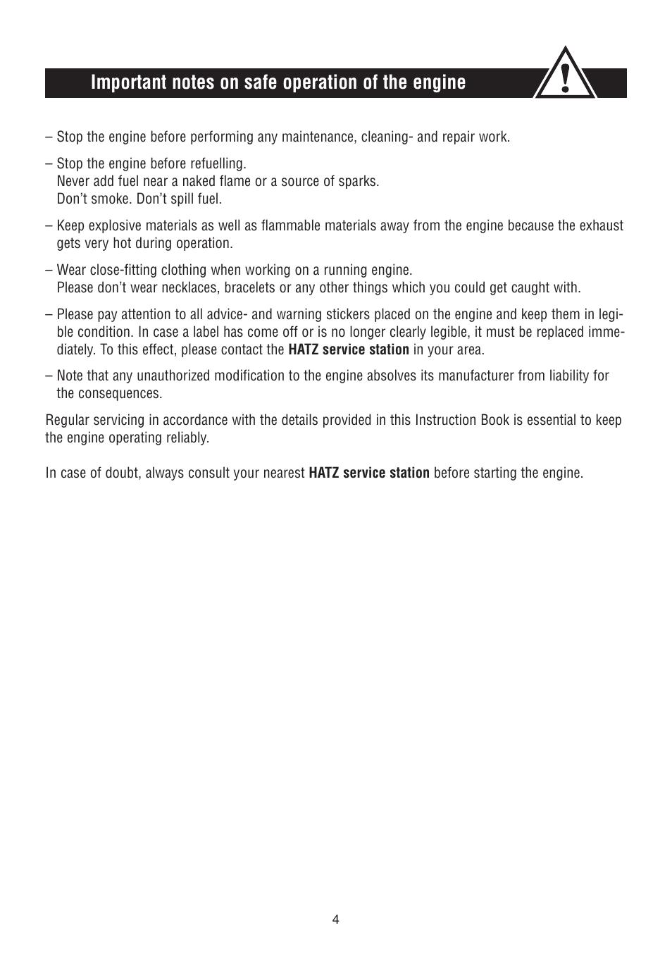 HATZ Diesel 1D90 User Manual | Page 5 / 38 | Also for: 1D81, 1D50, 1D42,  1D41