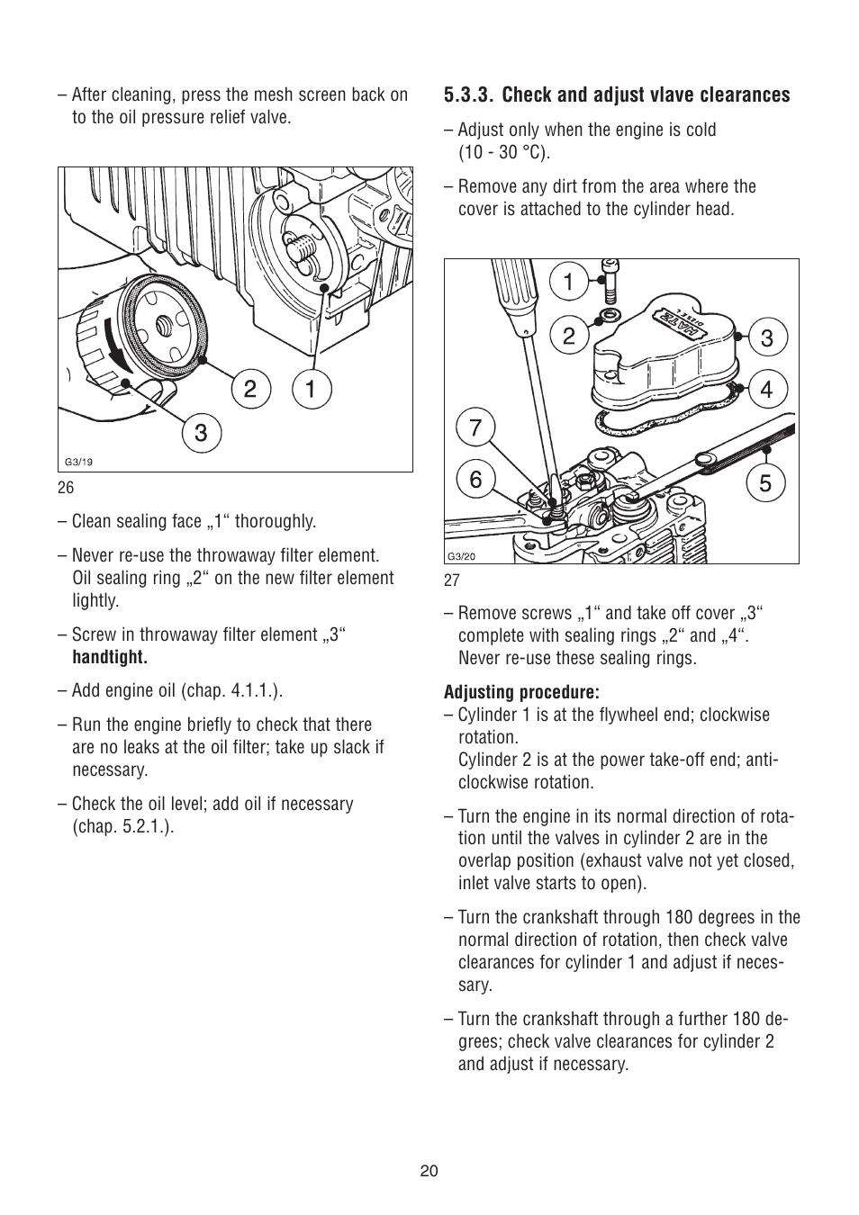 hatz diesel 2g40 h user manual page 21 32 also for 2g40. Black Bedroom Furniture Sets. Home Design Ideas