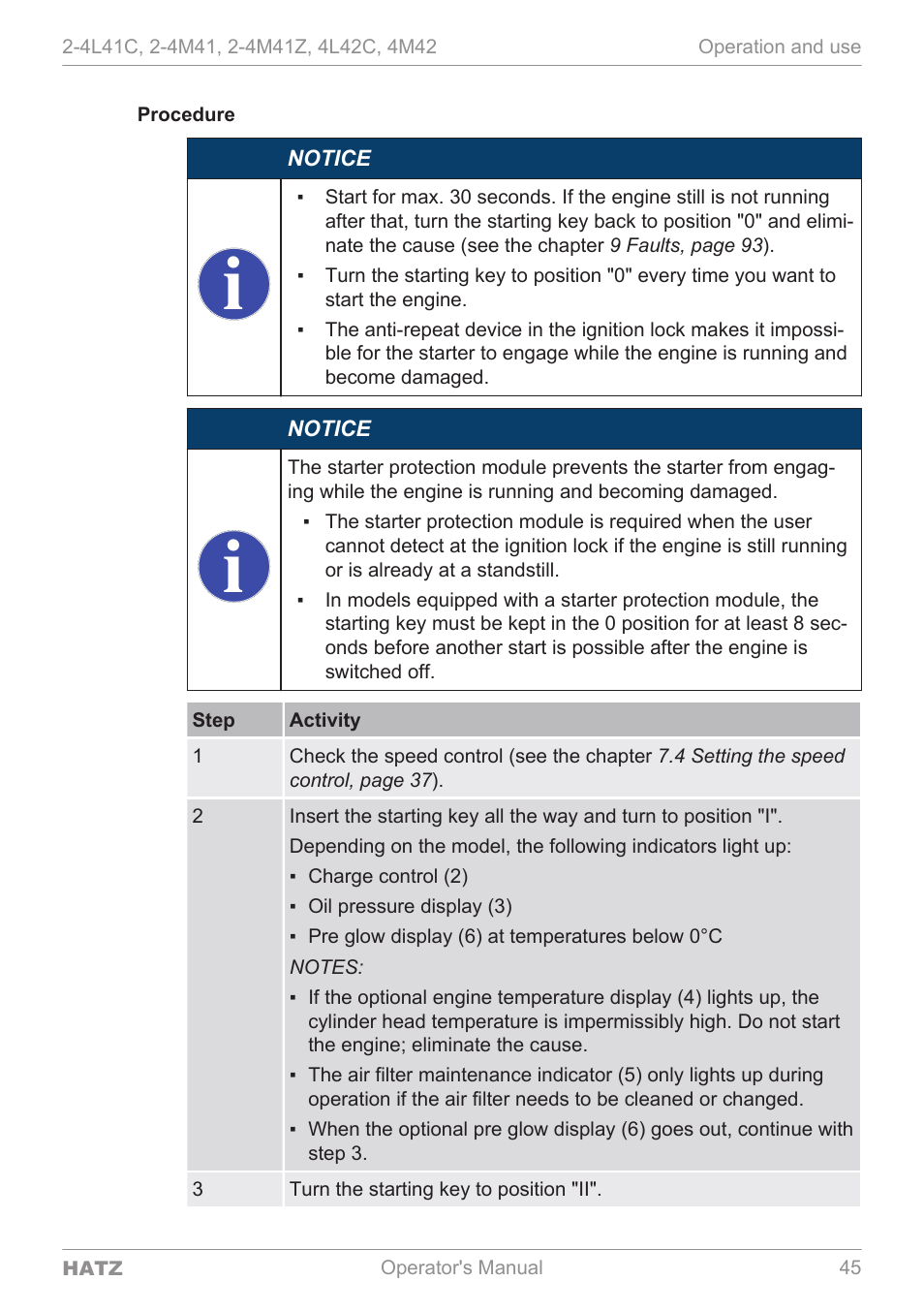 procedure hatz diesel 4m42 user manual page 45 105 rh manualsdir com Repair Manuals Service Station