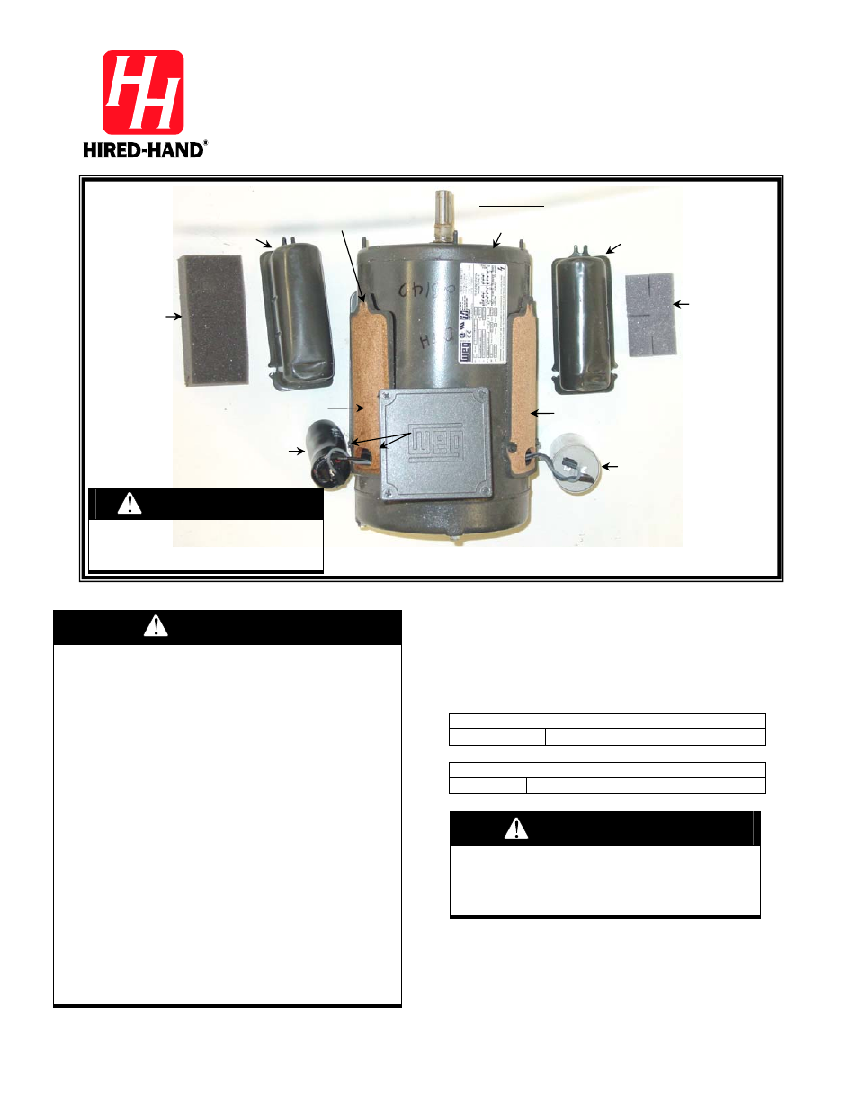 Hired Hand Mega Flow Slantwall Fans Fan Motor Start Capacitor User Connection Diagram As It Is A Manual 2 Pages Also For Funnel