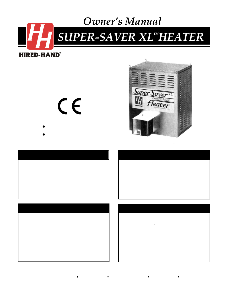 Hired Hand Super Savers Forced Air Heaters Xl Ss 225 Xl