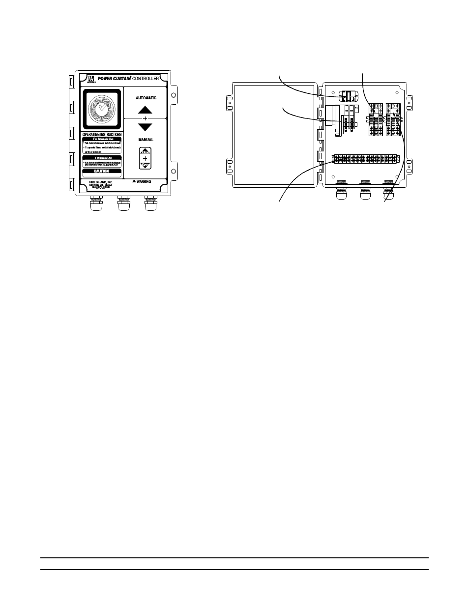Physical Description Use Of Equipment Installation Hired Hand Relay Switch Motor Controller Electro Mechanical Controls Switches Pc Db Curtain With Timer Override