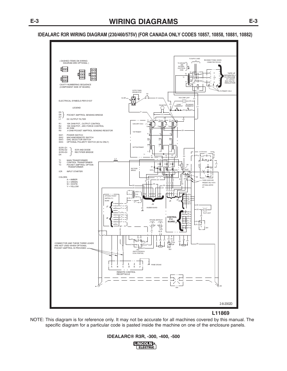 wiring diagrams | lincoln electric im409 idealarc r3r-400 user manual |  page 25 / 32  manuals directory