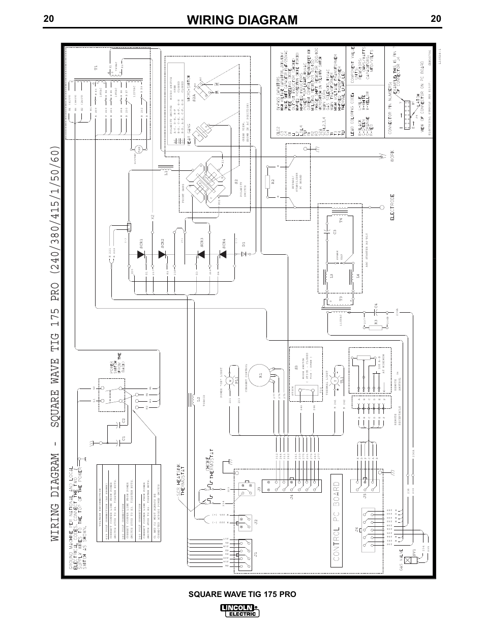 Wiring Diagram  Square Wave Tig 175 Pro