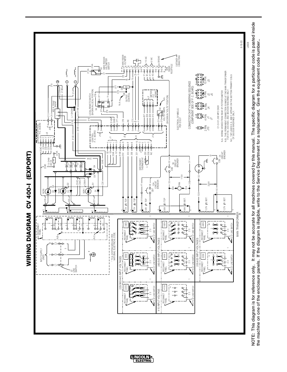 Lincoln Cv400 Wiring Diagram Schematics Diagrams 2000 Porsche Boxster Engine Cv 400 I Export Rh Manualsdir Com Navigator 1998
