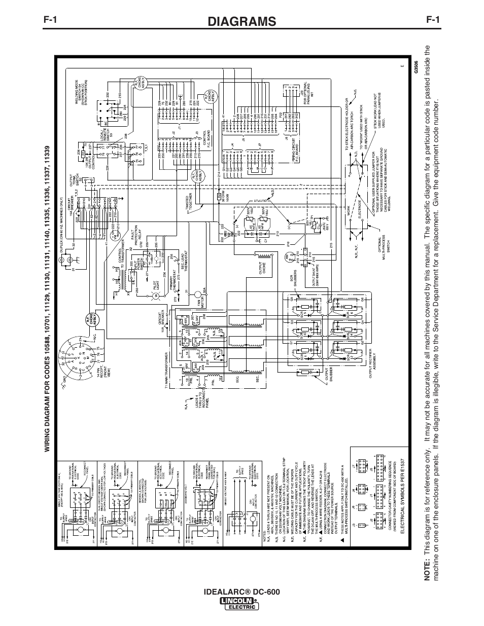 diagrams   lincoln electric im642 idealarc dc-600 user manual   page 42 / 57  manuals directory