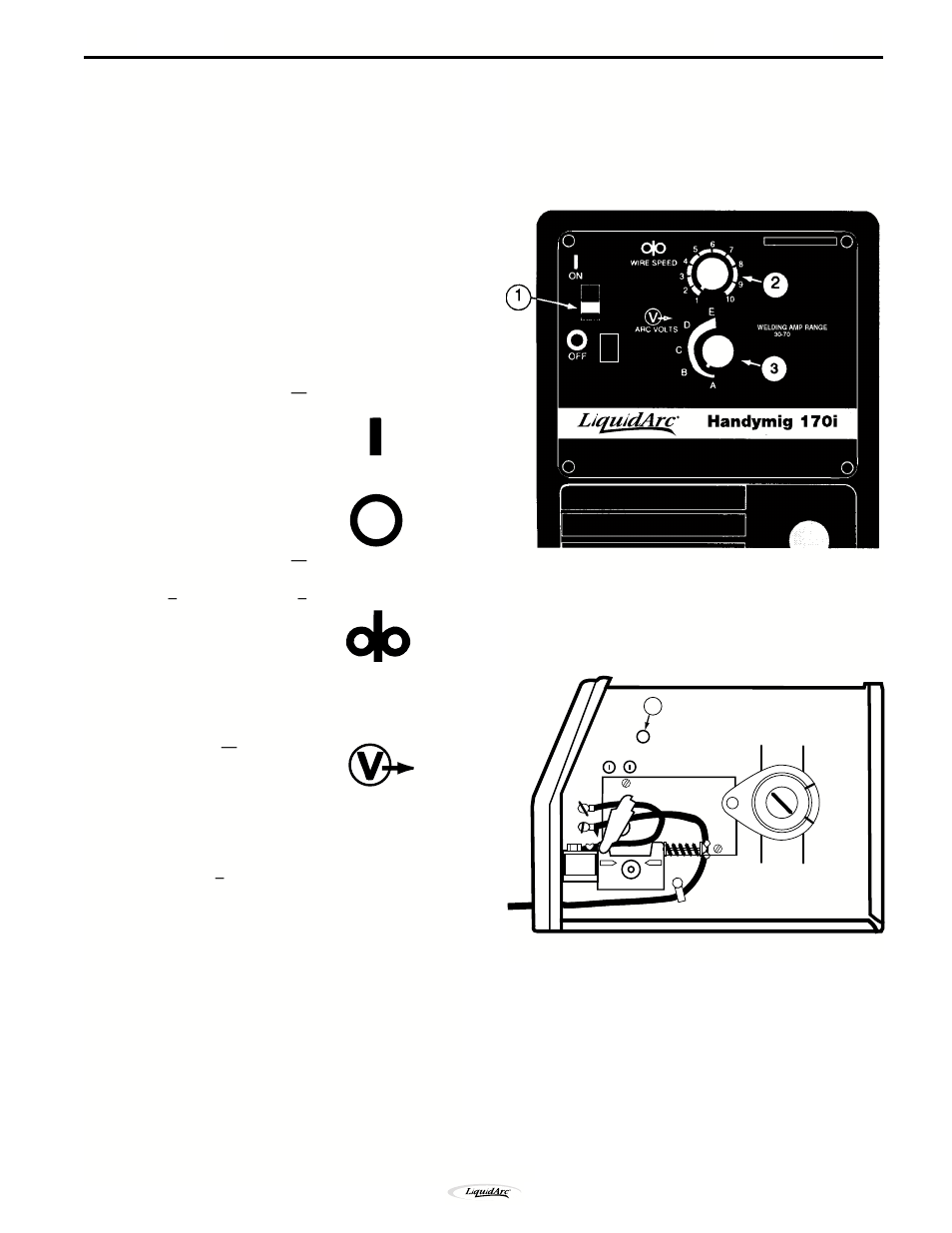 Operation Off On Arc Volts Wire Speed Welding Capability Lincoln Welder Wiring Diagram Electric Im711 Handy Mig 170i User Manual Page 17 45