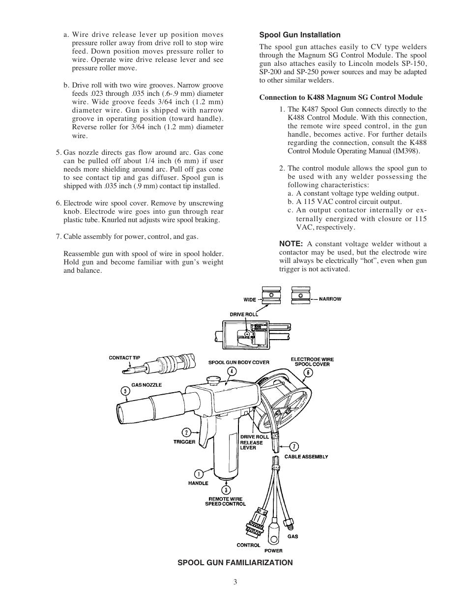Lincoln Electric IM408 MAGNUM SG SPOOL GUN User Manual | Page 10 / 25