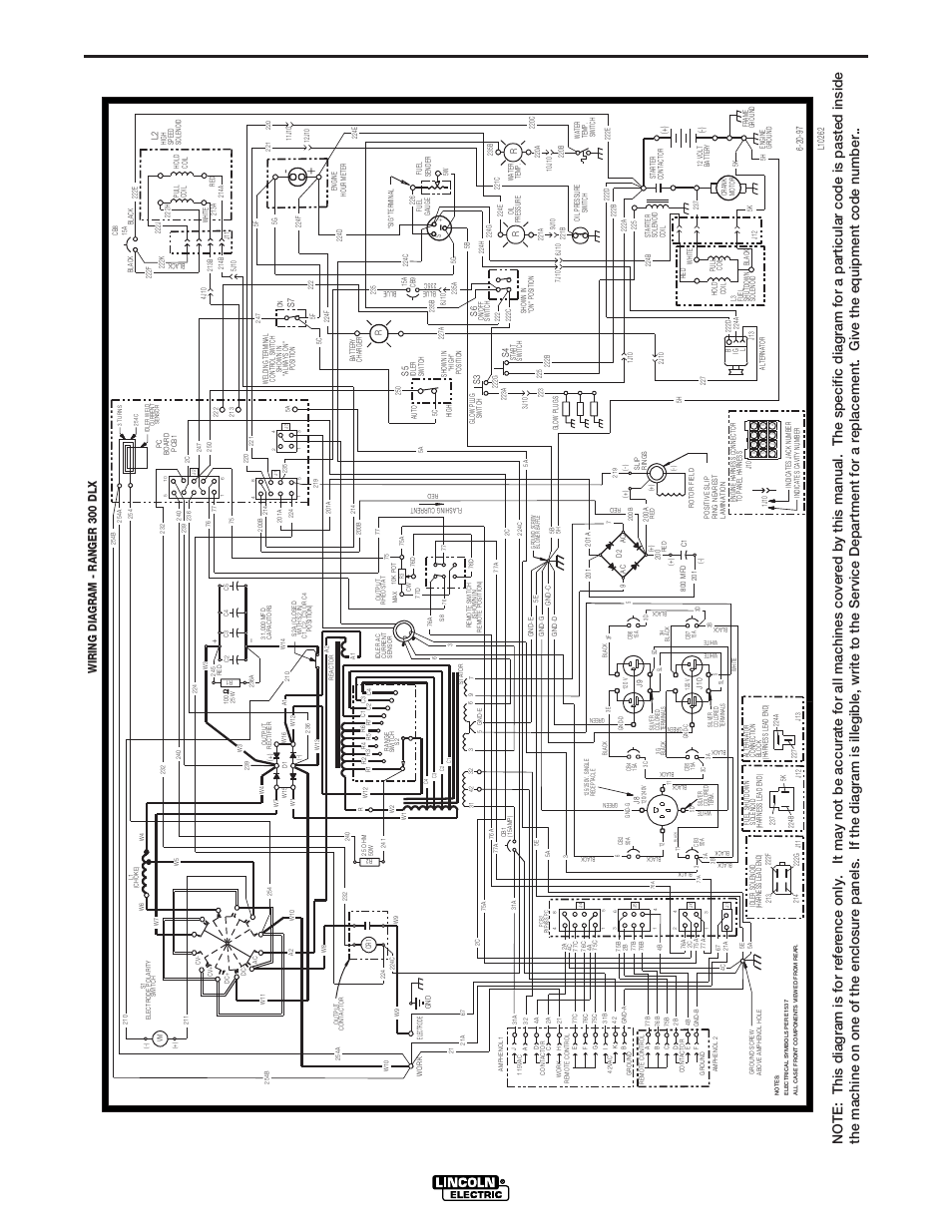 Lincoln Electric Wiring Diagram Archive Of Automotive 225 Welder Ranger 300 Dlx Rh Manualsdir Com Motor