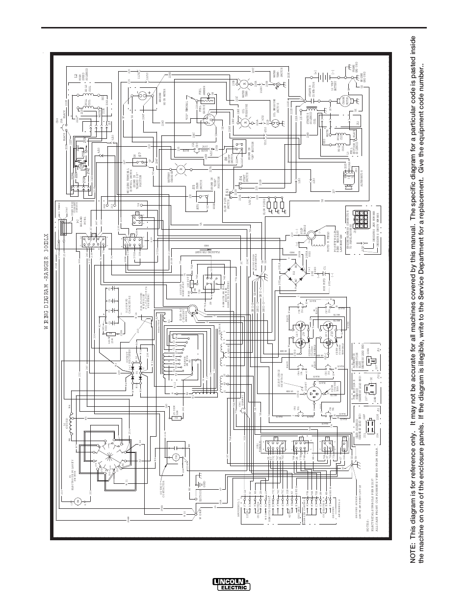 Wiring diagram | Lincoln Electric IM571 RANGER 300 D and 300 DLX User  Manual | Page 49 / 56 | Original modeManuals Directory