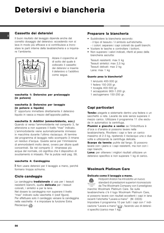 detersivi e biancheria   hotpoint ariston avtl 83 user manual   page
