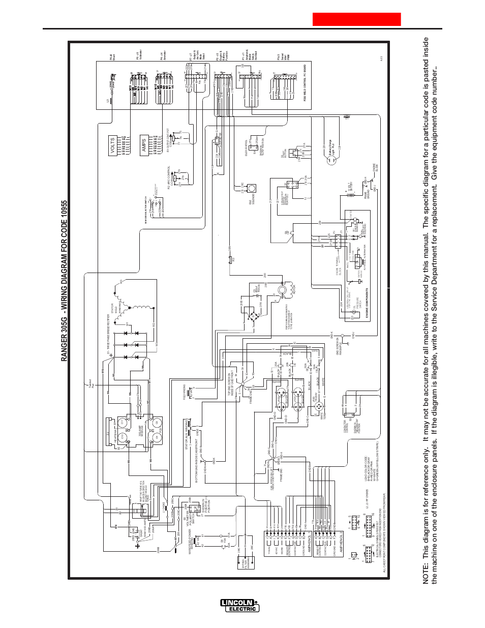 lincoln electric im742 ranger 305 g page46 lincoln ranger 305d wiring diagram lincoln wiring diagrams lincoln ranger 305d wiring diagram at bakdesigns.co