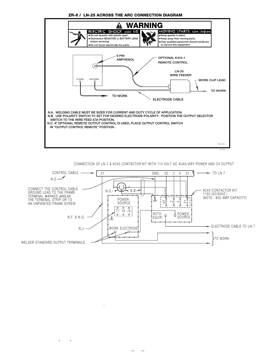 Warning | Lincoln Electric IM672 RED-D-ARC ZR-8 User Manual | Page ...