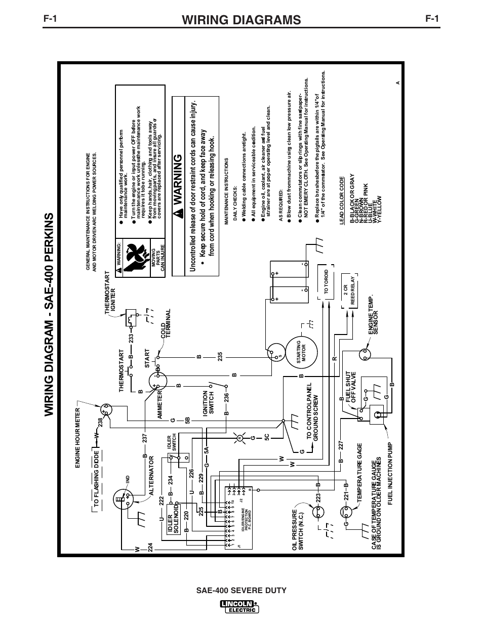 Lincoln Sae 400 Wiring Diagram Schematic Diagrams Vantage Free Download 300 Diesel Welder