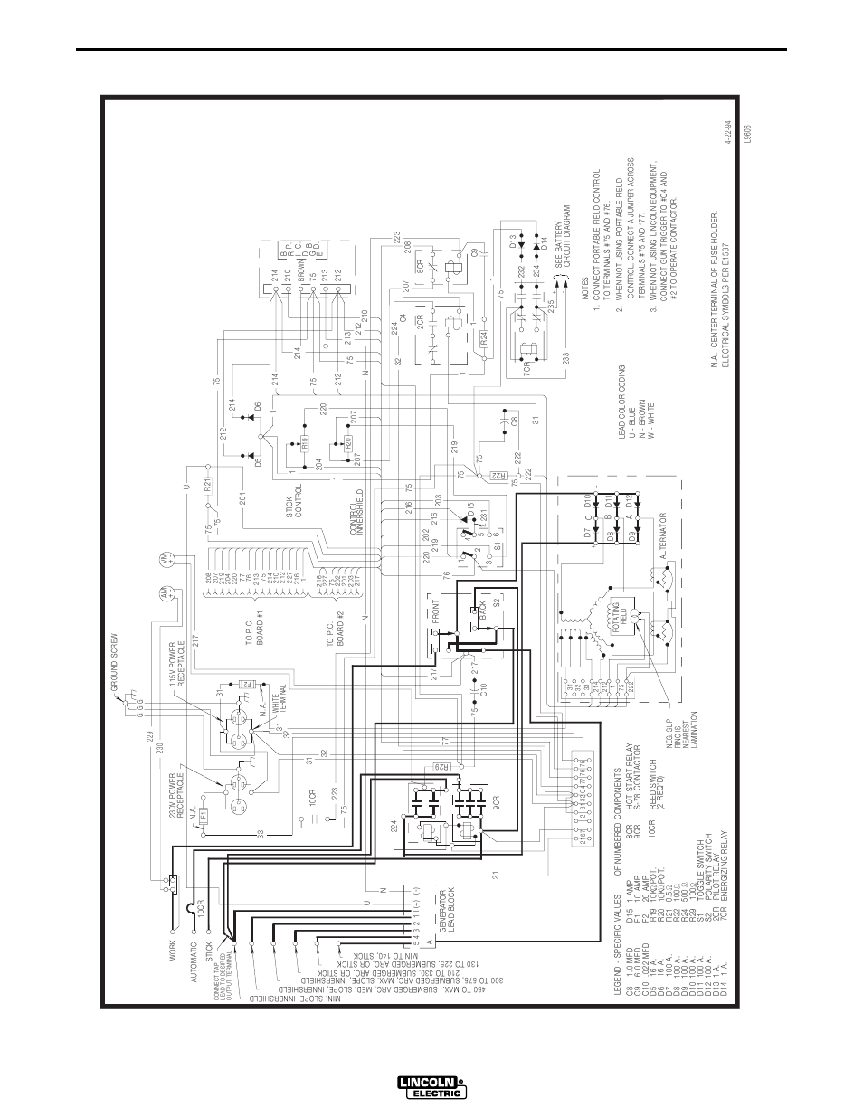 Lincoln Electric Wiring Diagrams Custom Diagram Sam650 Ma Chine Dia Gram Rh Manualsdir Com Motor K870