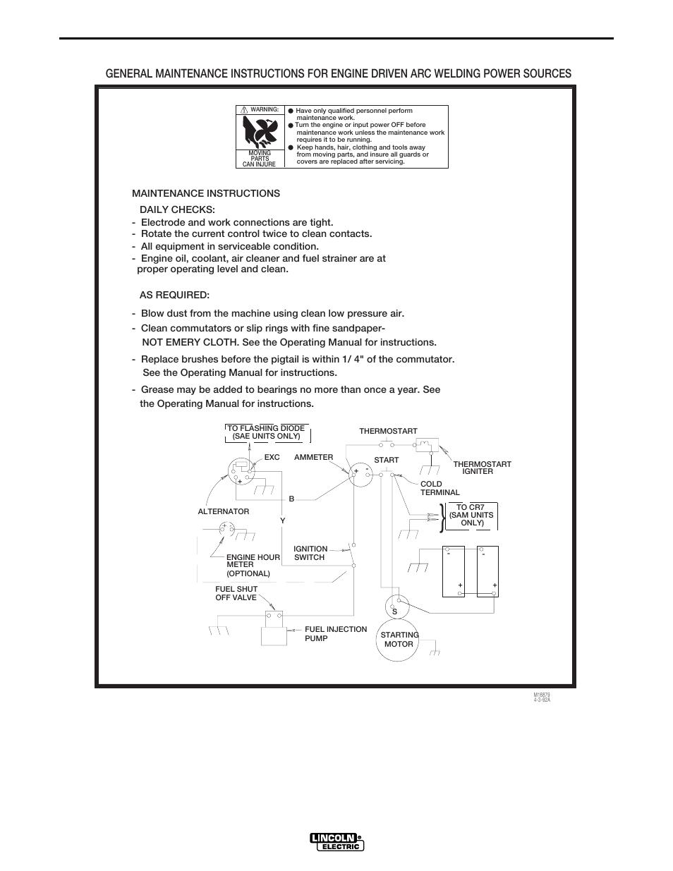 Lincoln Sam 400 Wiring Diagram Trusted Diagrams Oven Sam400 Engine Dia Gram Electric Beaver