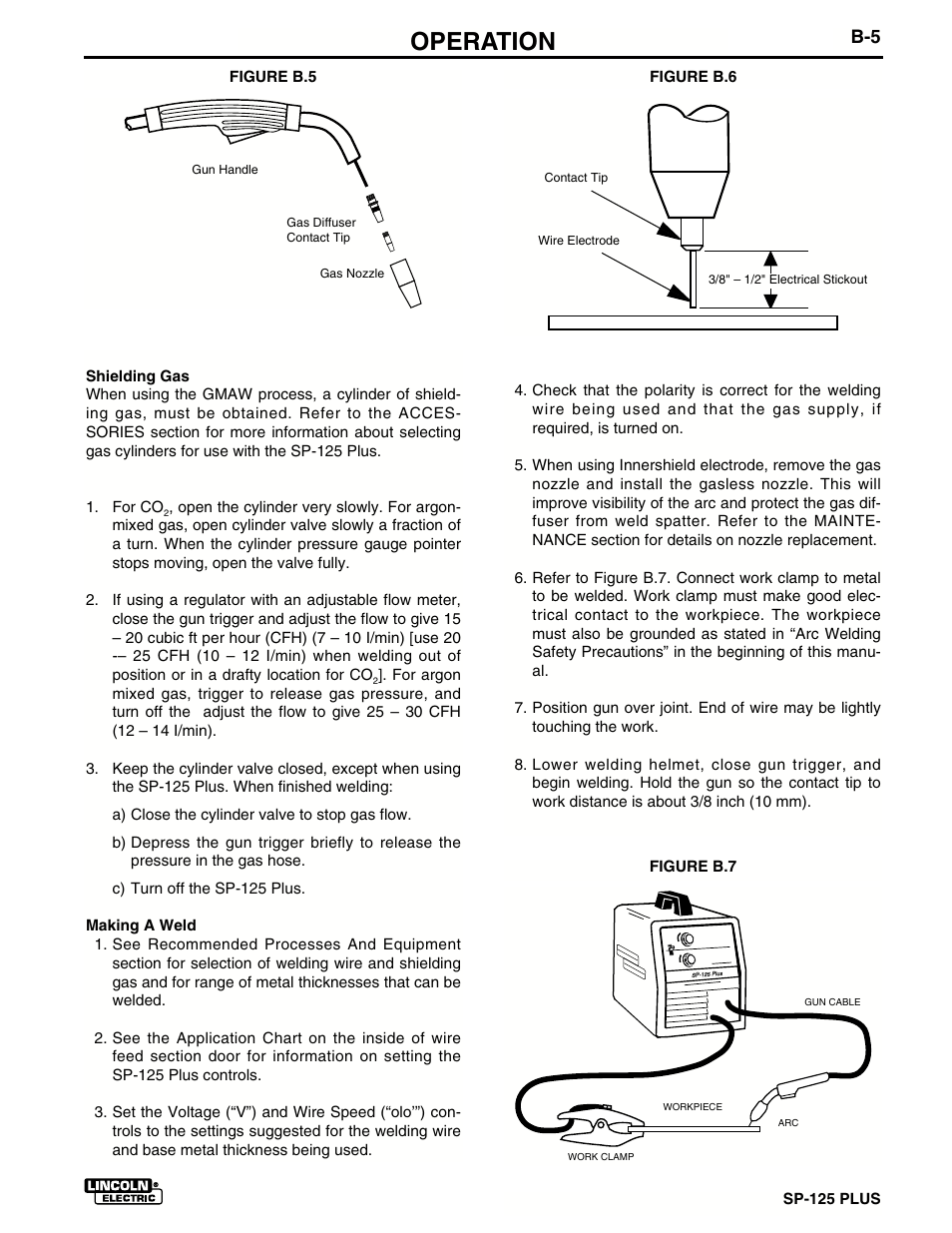 Operation   Lincoln Electric IM536 SP-125 Plus User Manual   Page 19 / 51