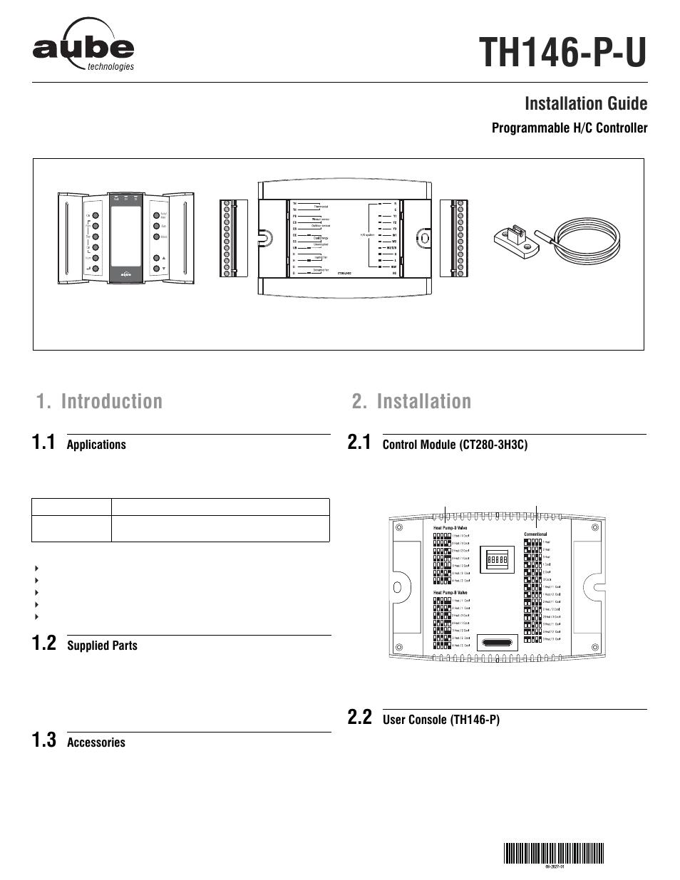 aube technologies programmable h c controller th146 p u user manual rh manualsdir com Aube Programmable Thermostat Aube Programmable Thermostat