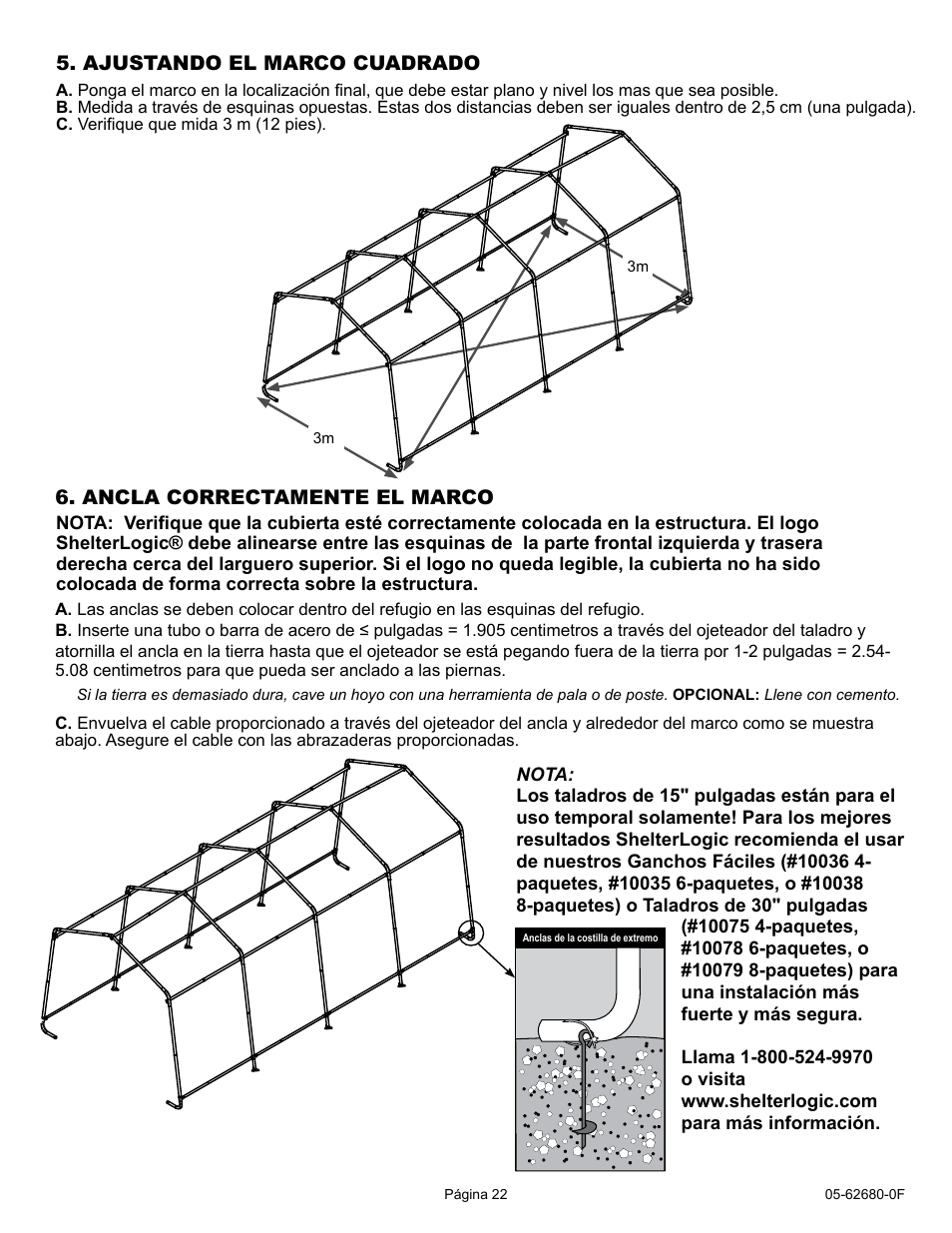 ShelterLogic 62680 10 x 20 x 8 AutoShelter User Manual | Page 22 / 24