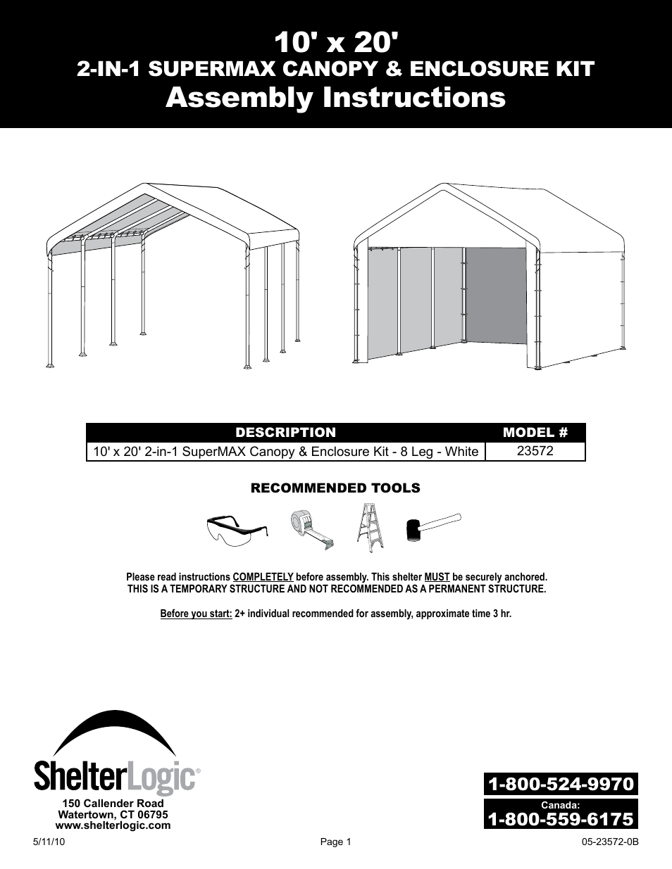 10x20 canopy tent assembly instructions