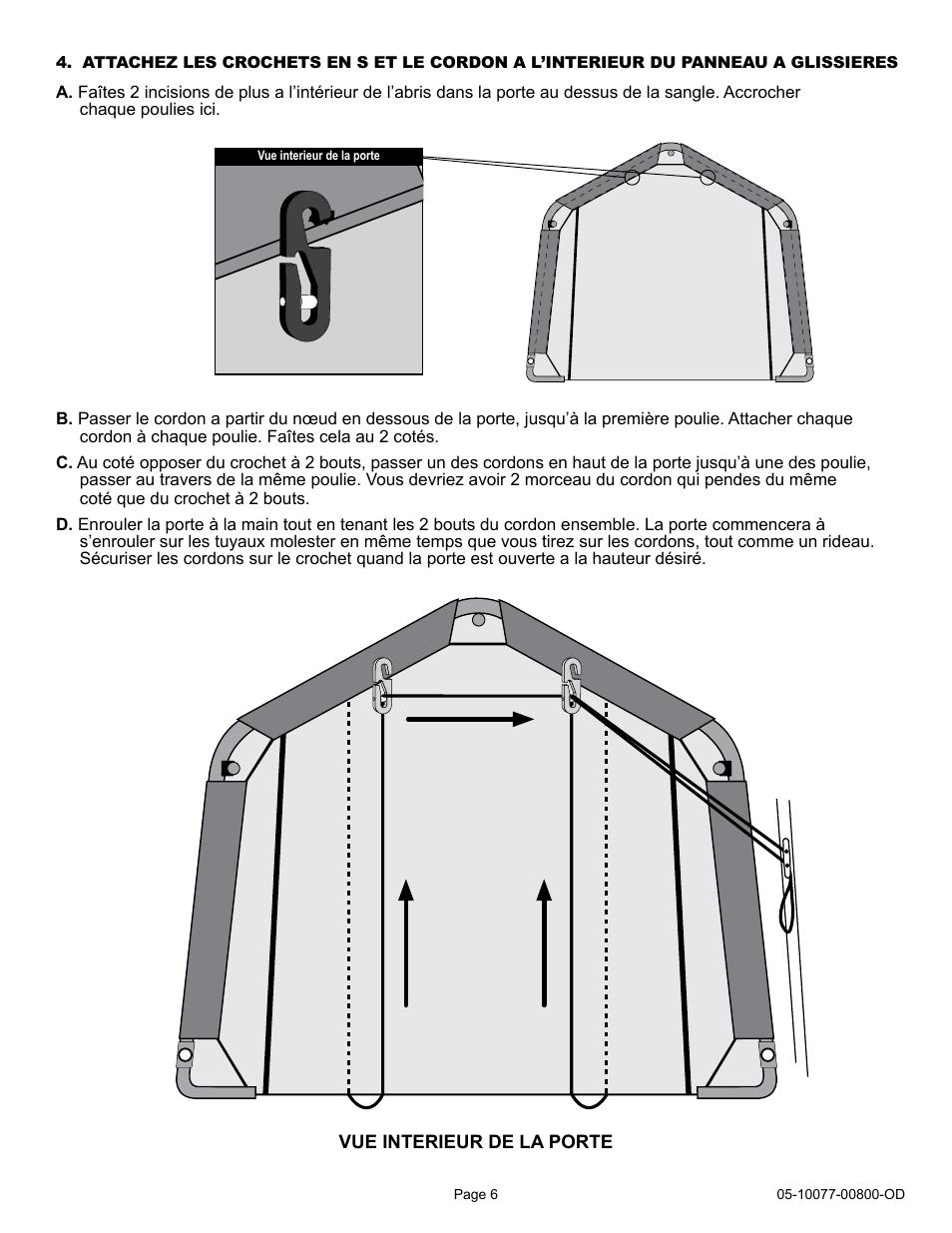 ShelterLogic 00800 Pull Eaze Roll Up Door Kit User Manual | Page 6 /