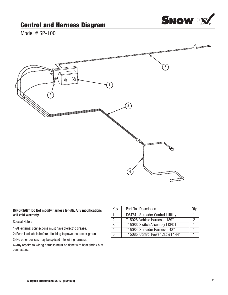 Snowex Wiring Harness Library Free Download Rg570 Diagram Control And Model Sp 100 User