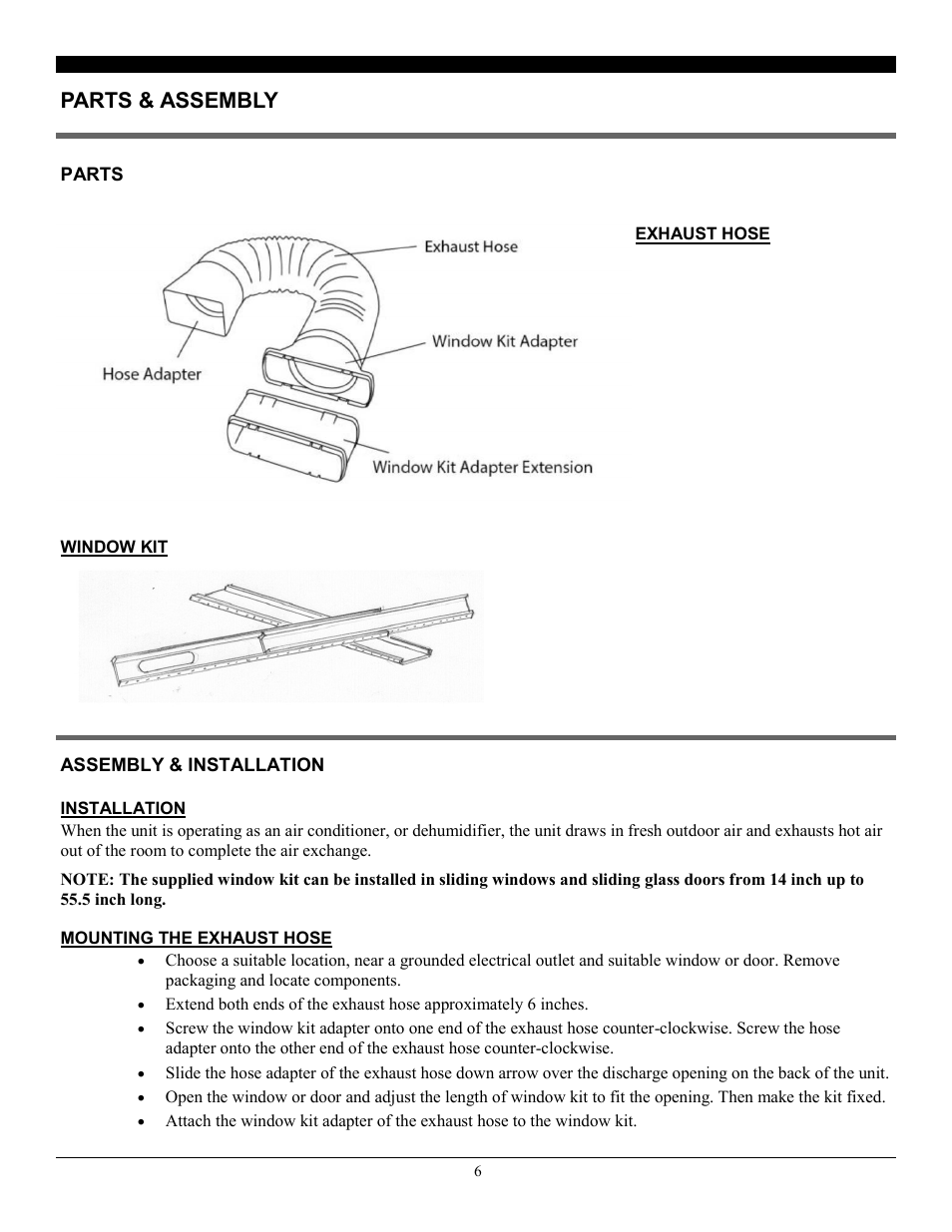 Parts & assembly | SoleusAir PE8-11R-32 User Manual | Page 6