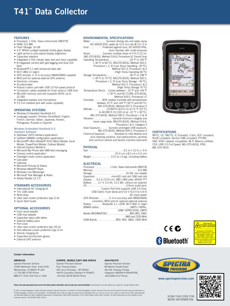 Spectra Precision T41 User Manual