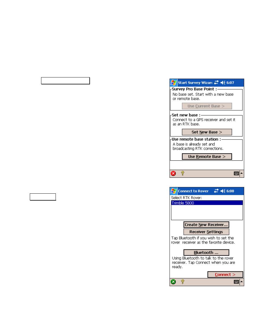 starting a survey with vrs spectra precision survey pro v4 6 recon