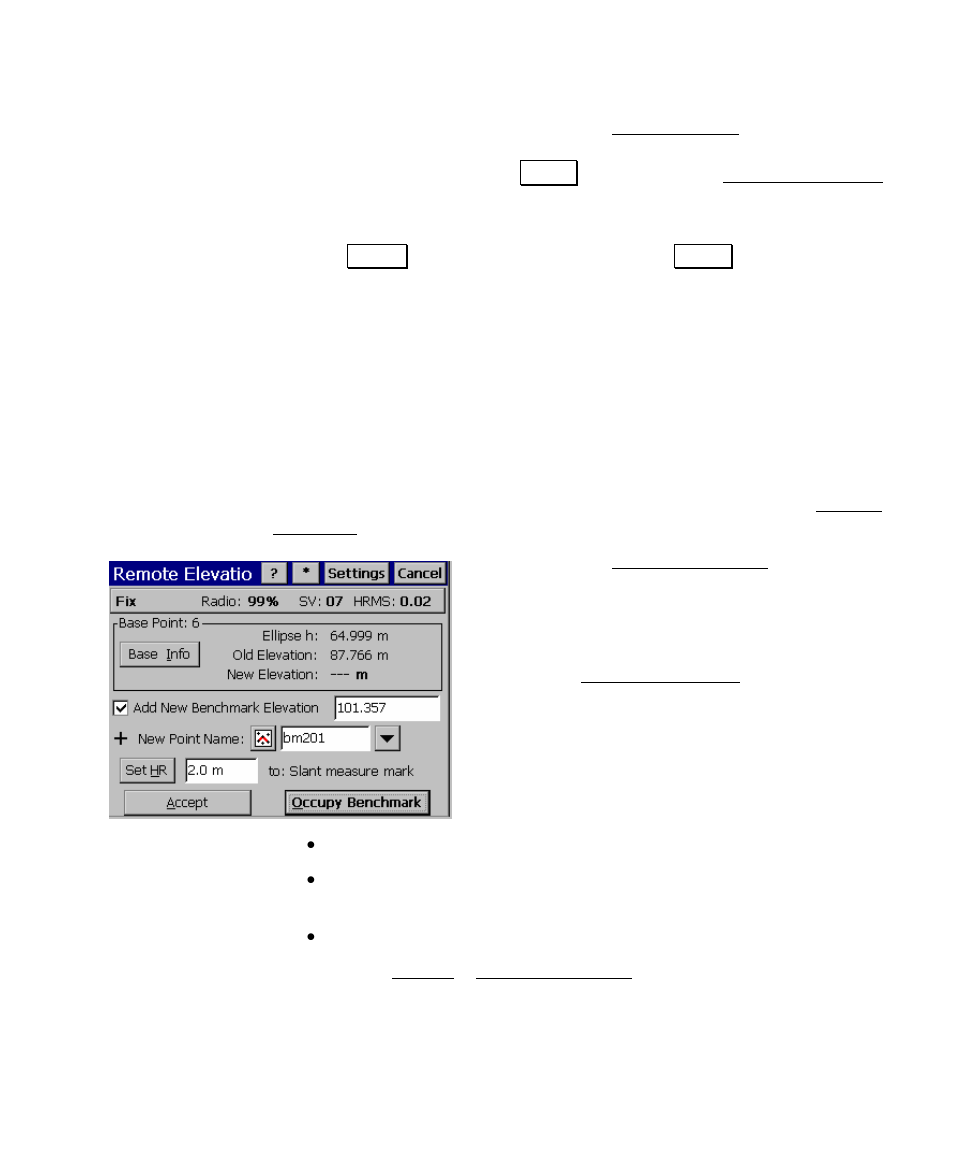 Remote elevation, Start gps survey | Spectra Precision Survey Pro v4.5  Ranger User Manual User Manual | Page 269 / 339