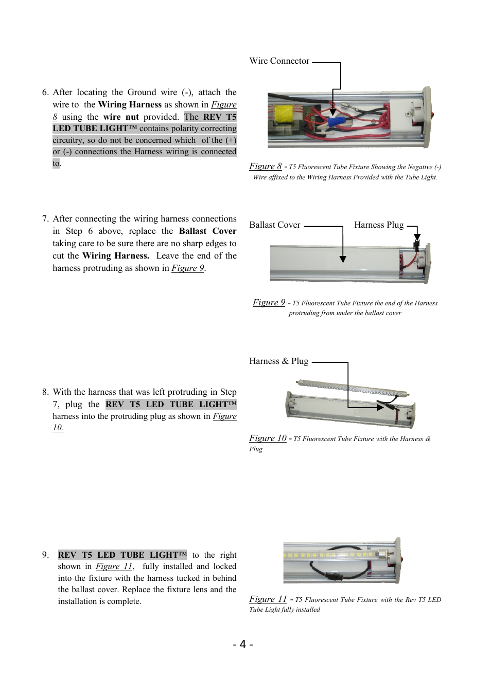 T5 Lights Wiring Trusted Diagram 4 Wire For Led Tube Fixture Star Revolution 12 User Manual Page 5