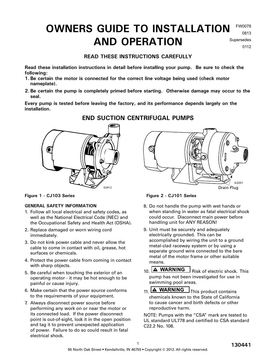 Star Water Systems CJ101 (Flint & Walling) User Manual | 21
